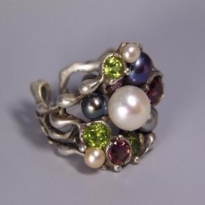 Перстень «Кольоровий сад»
