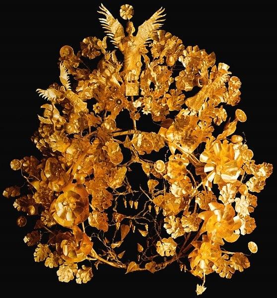 Греція. 4 ст. до н.е. Листове золото, дріт, висота близько 32 см