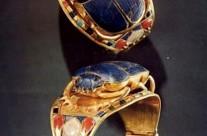 Древній Єгипет. Браслет. Золото, лазурит, сердолік, бірюза, скло. 1530р до н.e.