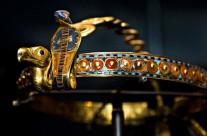 Древній Єгипет. Діадема. Золото, обсидіан, скло, корнеліан. 1332-1322 рік до н.e.
